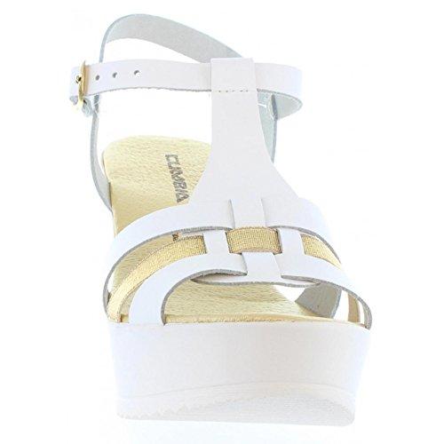 Zapatos de cuña de Mujer CUMBIA 30132 BLANCO-ORO