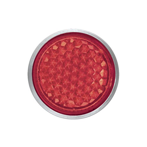 Red Mini Reflectors - Grand General 80848 Round Red 5/8