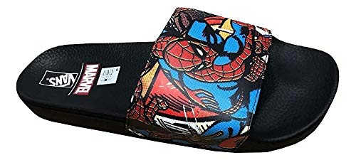 Vans x Marvel Mens Spiderman Slide-On Sandals Black/Red VN0004KI9H7 (13 M US) -