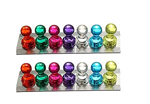 35 Assorted Color Magnetic Push Pins - Perfect for Maps, Whiteboards, Refrigerators(Pack of 35) soamazing?