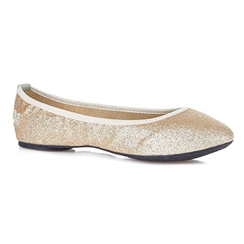 Butterfly Twists Womens Samantha Ballet Flat Gold