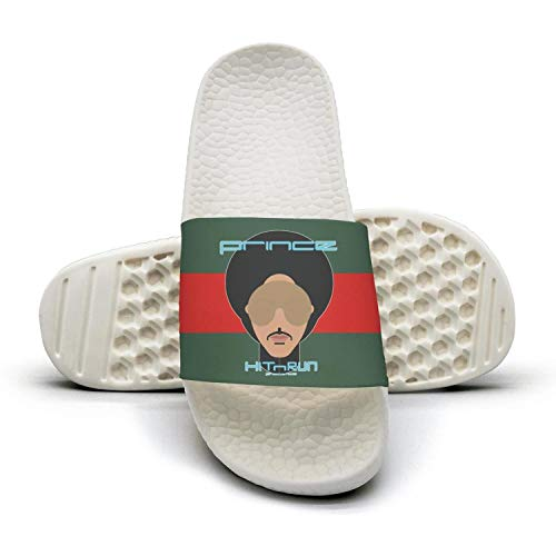 Woman Prince_Hit n Run_Phase_Two_album red and green stripe Slides Mules Slippers Summer (Sandals Fudge)