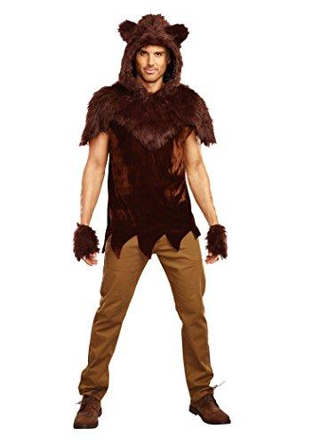 Dreamgirl Men's Papa Bear Costume, Brown,