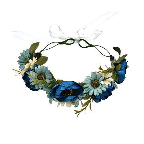 Top DDazzling Beautiful Women's Floral Crown Hair Accessory Flower Crown Flower Headband
