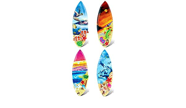 Amazon.com: CoTa Global Colorful Surf Boards - 3D Designs - Summer Magnet (4pc Set) - Item #7585: Kitchen & Dining