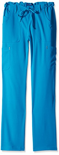 Alicia Pant - KOI Women's Size Tall Alicia Easy-Fit Mid-Rise Drawstring Waist Scrub Pants, Ultramarine, X-Large