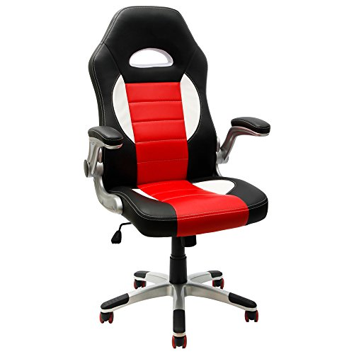 Furmax-Executive-Racing-Style-Bucket-Seat-PU-Leather-Office-Chair-Computer-Chair-360-Swivel