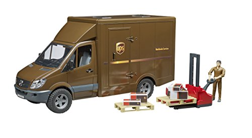 Bruder MB Sprinter Ups with Driver & Accessories Vehicles - Toys