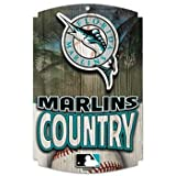 "MLB Florida Marlins 11"" x 17"" Wood Sign"