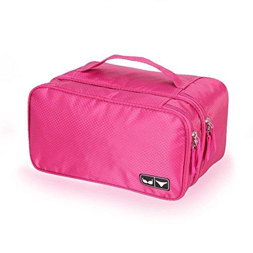 Veevan Intima Portatile Organizzatore di Viaggi Panty Bra Bagagli(Dolce Rosa)
