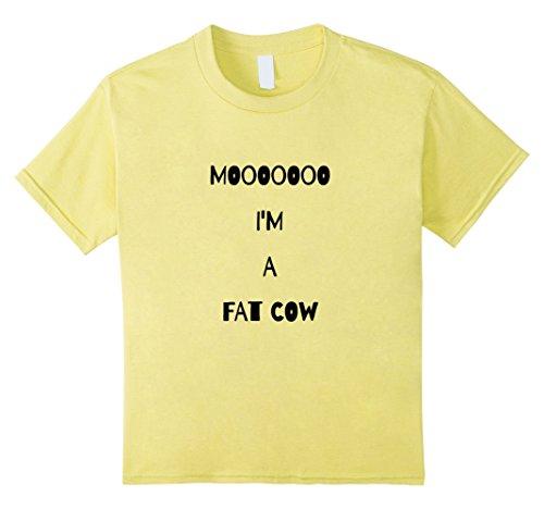 Kids Moo Cow Farm Animal T Shirt Halloween Costume Barn 12 Lemon (Halloween Ideas For Fat Girls)