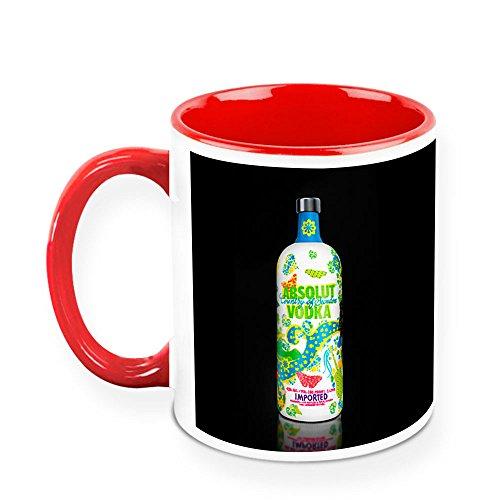 - HomeSoGood Drinks Imported Vodka White Ceramic Coffee Mug - 11 Oz