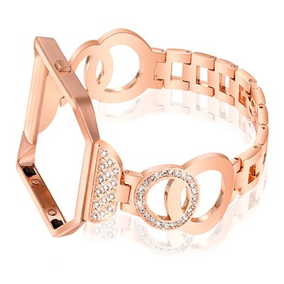 Nigaee For Fitbit Blaze Bands Women Men With Frame, Stainless Steel Fitbit Blaze Accessories Fitbit Blaze Watch Band Fit bit Blaze Bands Fitbit Bands Blaze Bracelet 1 Rose Gold