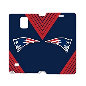 Blue Background New England Patriots Simple Stylish Design Samsung Galaxy note 4 Case Cover (Laser Technology)