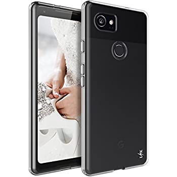 Google Pixel 2 XL Case, LK Ultra [Slim Thin] Scratch Resistant TPU Rubber Soft Skin Silicone Protective Case Cover for Google Pixel 2 XL (Clear)