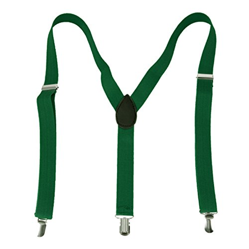 HDE Suspenders Adjustable Elastic Shoulder