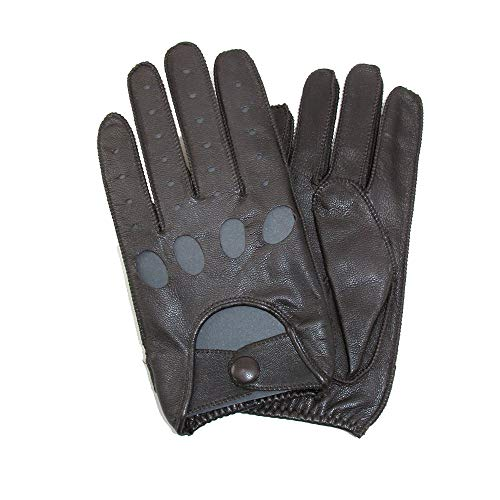 Isotoner Men's Classic Leather Unlined Driving Gloves, 2XL, Brown