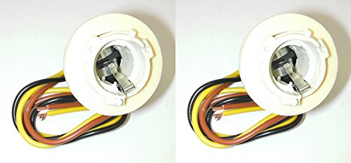 Parts Master 82018 3-Wire Double Contact Lamp Socket & Pigtail GM (Pack of 2) ()