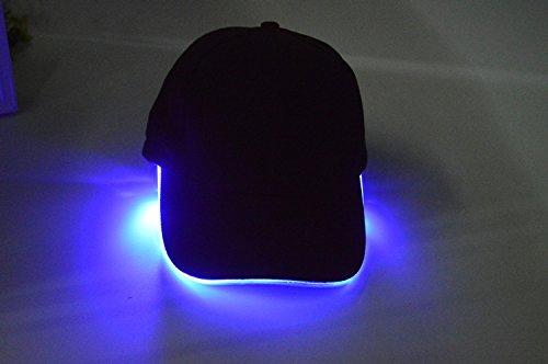 luminosa sombreros lanza fibra algodón Blue Negro Baseball Halloween pato hat hat tapa baseball Navidad verde beanie hat MASTER de Luz wEzT4qq