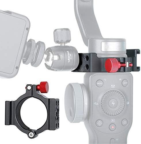 Negro 1//4Adaptador de Montaje en Anillo Soporte de extensi/ón Clip Abrazadera de Adaptador para Zhiyun Smooth 4 Gimbal Rode Micr/ófono Luz LED