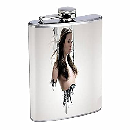 Amazon com | Robot Flask D10 8oz Stainless Steel Cyborg Science