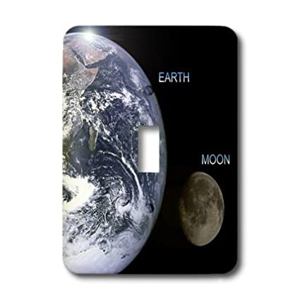 3dRose lsp/_76842/_1Solar System Earth and Moon Single Toggle Switch
