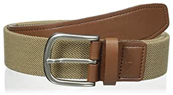 Dockers Men's  1 3/8 in. Stretch Web Belt,Khaki,32