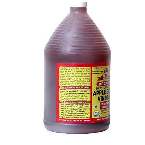 Organic Raw Apple Cider Vinegar Unfiltered Bragg 1 Gal (128oz) Liquid by Bragg (Image #1)