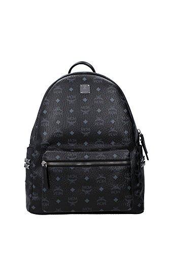 MCM Men's Stark Medium Backpack, Black, One Size