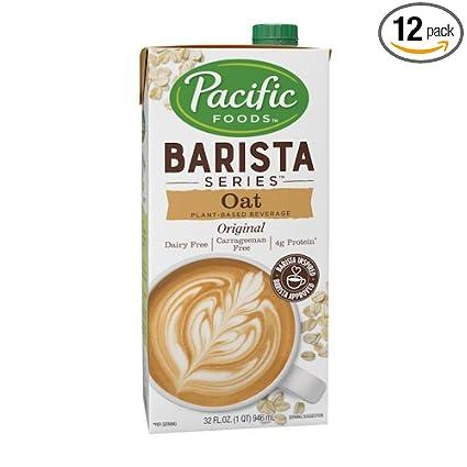 Pacific Natural Foods – Leche de avena, serie Barista, sin ...