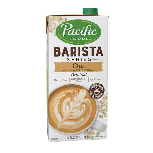 - Pacific Natural Foods Oat Milk Barista Series-Non-Dairy Gluten Free- 32 oz ea- case of 12