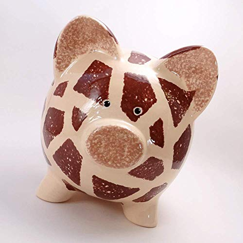 Giraffe Personalized Piggy Bank Ceramic Zoo Decor