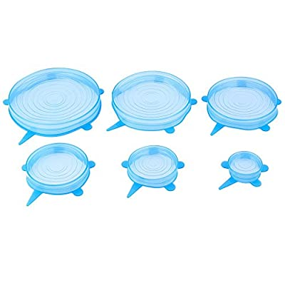 New Arrival Set of 6 Silicone Stretch Lids Reusable, Universal Silicone Suction Lid-bowl Pan Cooking Pot Lid-silicon Stretch Lids Silicone Cover Pan Kitchen Vacuum Lid Sealer