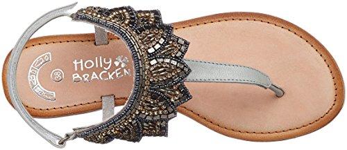 Molly Bracken Pb10p17, Sandalias con Plataforma para Mujer Gris (Grey)