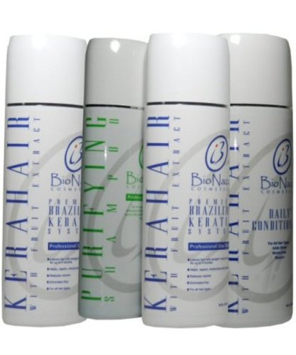 Kera Hair Brazillian Keratin System All in One Set 16oz Big Sale! by BioNaza Cosmetics