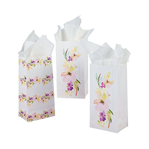 Fun Express Mini Garden Party Treat Bags | 24 Count | Great for Bridal Shower, Baby Shower, Birthday Party, Wedding Reception, Spring or Floral Themed Events