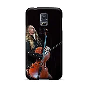 Shock Absorbent Hard Cell-phone Cases For Samsung Galaxy S5 With Allow Personal Design Stylish Apocalyptica Band Skin JohnPrimeauMaurice
