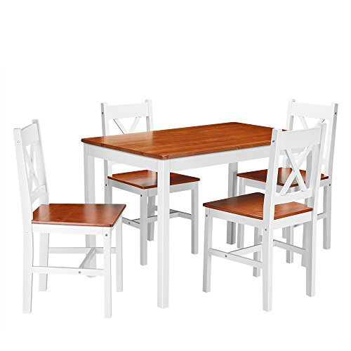 onlyeu Dora 5 piezas Juego de mesa comedor grupo - Juego de ...