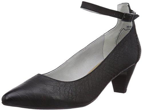 Marc Shoes 1.407.23-21/100-Marita - Zapatos de vestir de cuero para mujer negro - Schwarz (black 100)