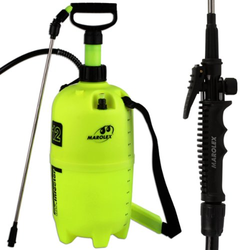 Marolex 12 Litre Professional Calibrated Heavy Duty Pump Action High Pressure Sprayer - Comes With TCH Anti-Bacterial Pen!