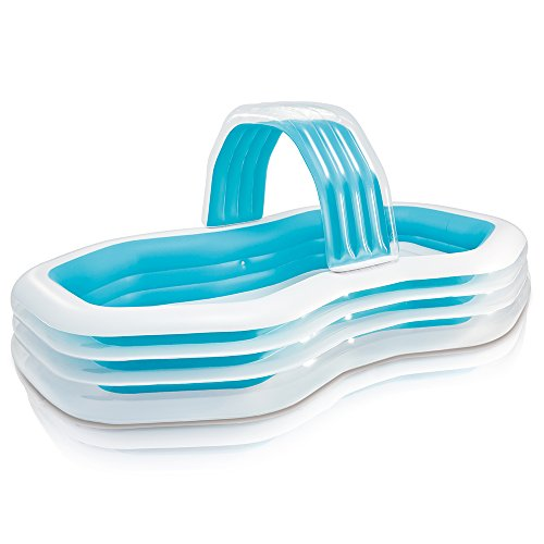 """Intex Family Cabana Swim Center Pool, 122"""" x 74"""" x 51"""", for Ages 3+ by Intex"""