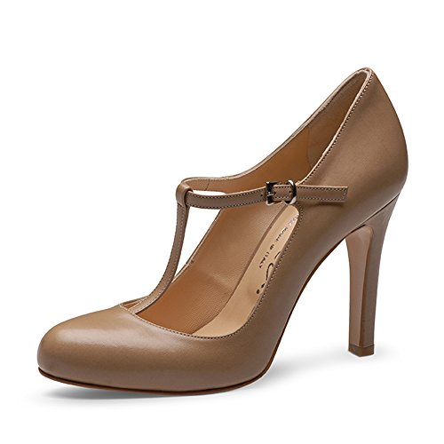 Donna Scarpe Viola Evita marrone Tacco Col Shoes wpqOxSU1