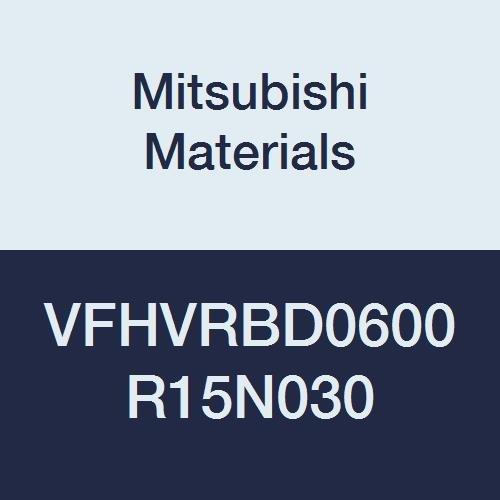 Mitsubishi Materials VFHVRBD0600R15N030 VFHVRB Carbide Impact Miracle Corner Radius End Mill 1.5 mm Corner Radius 4 9 mm LOC Irregular Helix Flutes Short 6 mm Cut Dia 30 mm Neck Length