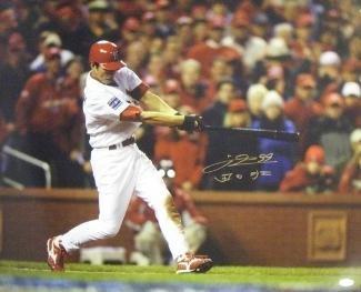 Autographed Taguchi Photograph - 16x20 Batting 2006 World Series Champs English Japanese - Autographed MLB - Series World 2006 Champs