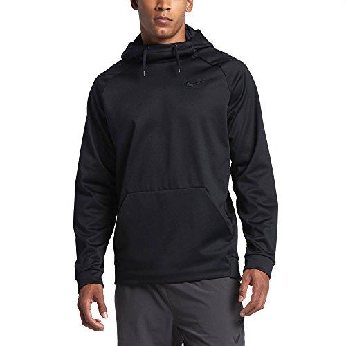 Nike Men's Therma Training Hoodie (Black/Dark Grey, 2X Tall) -