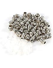 50 stuks Zilveren Kleur 5mm LED Houders Paneel Display Draad Mount Maat Bezel Clip Montage Paneel Display Houder voor 5mm LED