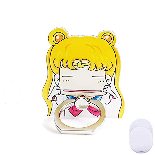 ZOEAST(TM) Phone Ring Stand Make Faces Super Sailor Moon Universal 360 Adjustable Holder Car Hook Grip Stent Mount Kickstand Compatible All iPhones Samsung Android Pad Tablet (Sailor Girl)