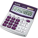 Calculadora Elgin com 12 dígitos, duplo zero MV-4127 Roxa, Elgin, 42MV41270000, Roxa