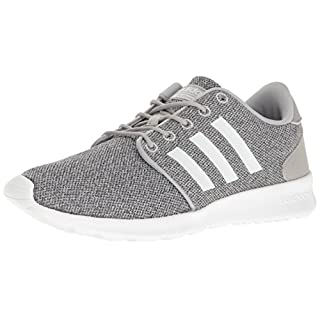 adidas Women's CloudfoamQT Racer Xpressive-Contemporary CloudfoamRunning Sneakers Shoes, clear onix/white/clear onix, 8 M US