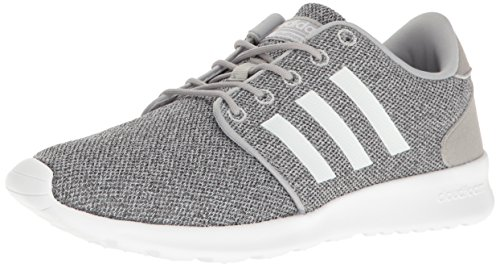 (adidas Women's Cloudfoam QT Racer Running Shoe White/Clear Onix, 8.5 M US)